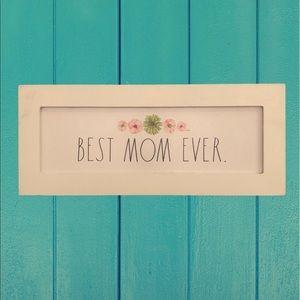 Rae Dunn BEST MOM EVER sign